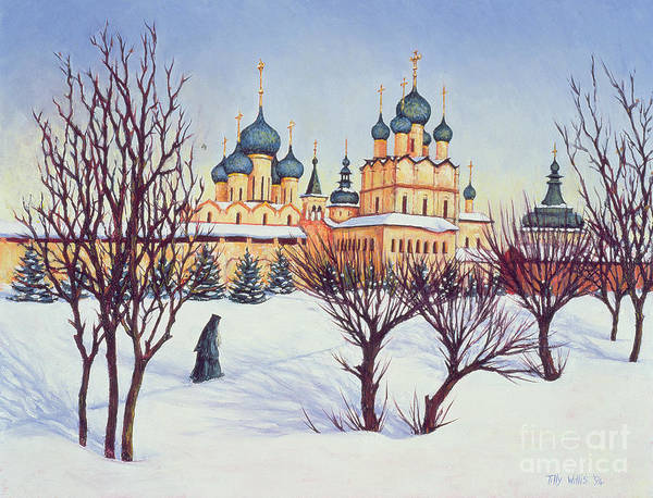 Russian Orthodox Church Painting - Russian Winter by Tilly Willis