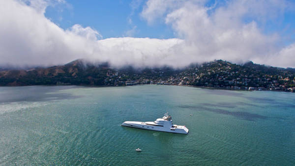 Photograph - Russian Yacht A At San Francisco 2010 by Steven Lapkin