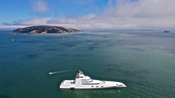 Photograph - Russian Yacht A At San Francisco by Steven Lapkin
