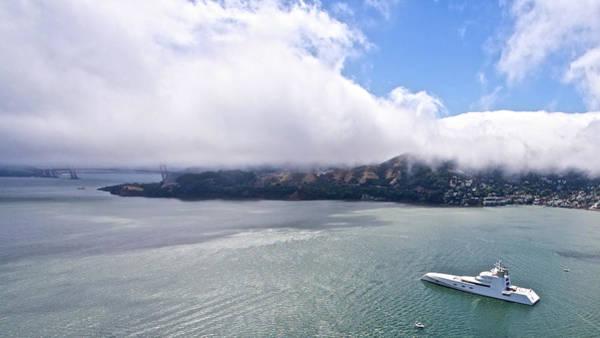 Photograph - Russian Yacht A On San Francisco Bay by Steven Lapkin