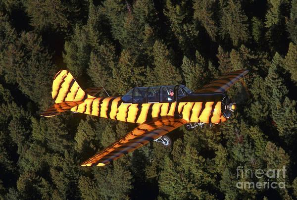 Yakovlev Photograph - Russian Yak-52 Flying Over Santa Rosa by Phil Wallick