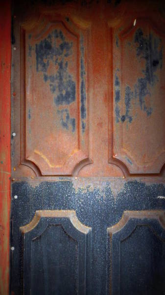 Photograph - Rust Metal Door by Anita Burgermeister