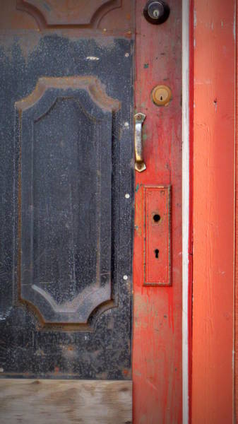 Photograph - Rust Metal Door Panel by Anita Burgermeister