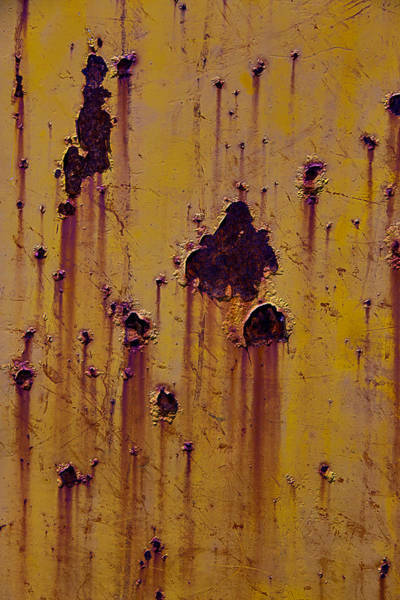 Dent Photograph - Rust Stains by Garry Gay