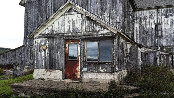 Photograph - Rusted Farmhouse Door by Michael Spano