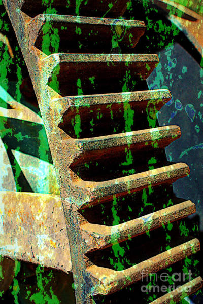 Photograph - Rusted Gears Abstract by Carol Groenen