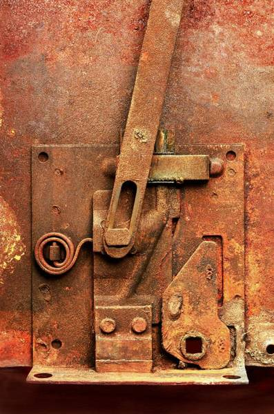 Latch Wall Art - Photograph - Rusted Latch by Jim Hughes