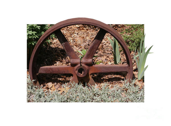 Photograph - Rusted Metal Wheel by Smilin Eyes  Treasures