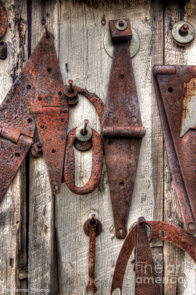 Chain Link Photograph - Rusted Past by Benanne Stiens