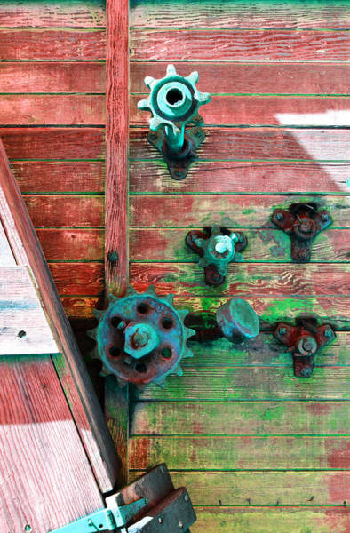 Canalization Photograph - Rusted Valves by Holly Blunkall