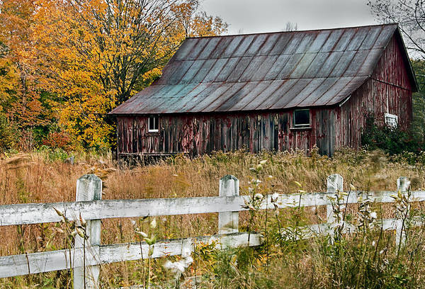 Photograph - Rustic Berkshire Barn by John Vose