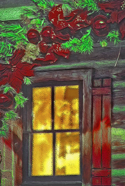 Christmas Season Wall Art - Photograph - Rustic Christmas Window by Steve Ohlsen