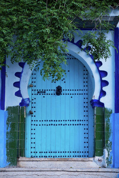 Chefchaouen Photograph - Rustic Door In Chefchaouen, Morocoo by Stockstudiox