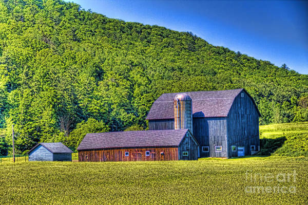 Photograph - Rustic Farm Setting by Jim Lepard
