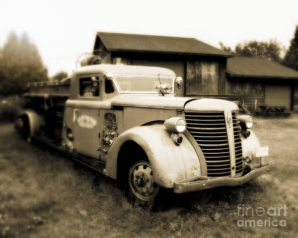 Wall Art - Photograph - Rustic Fire Engine by Perry Webster