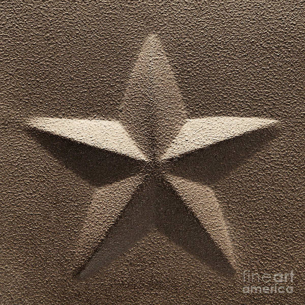 American Steel Photograph - Rustic Five Point Star by Olivier Le Queinec