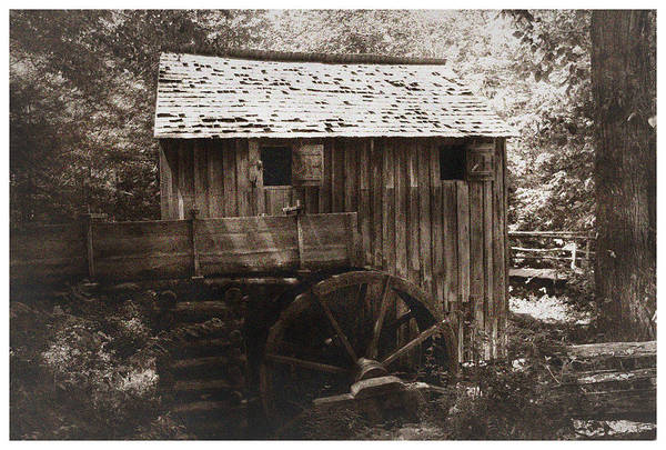 Photograph - Rustic Grist Mill by Barry Jones