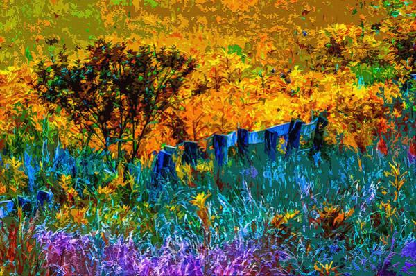 Fence Post Digital Art - Rustic Rainbow by Brian Stevens