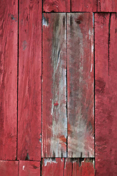 Photograph - Rustic Red Barn Wall by David Letts