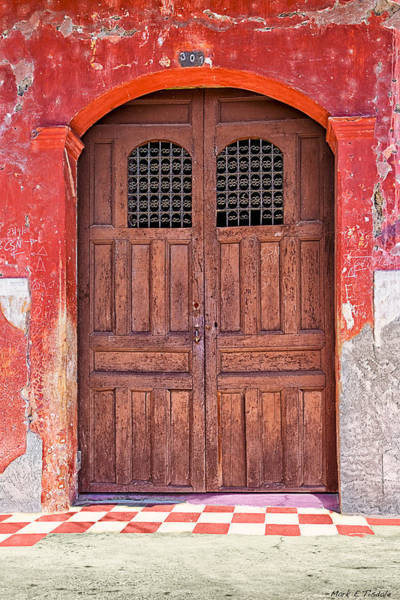 Photograph - Rustic Spanish Colonial Door - Granada by Mark Tisdale