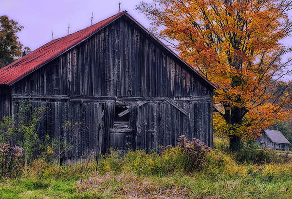 Photograph - Rustic Vermont Barn by John Vose