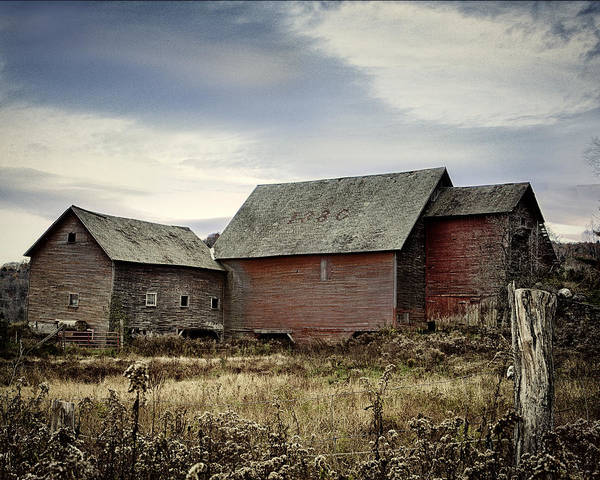 Photograph - Rustic Vermont Red Barn by John Vose