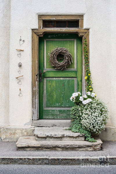Rustic Wooden Village Door - Austria Art Print