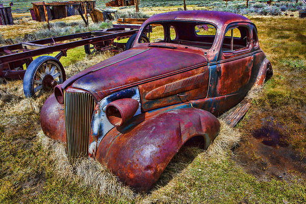 Wall Art - Photograph - Rusting Away Auto by Garry Gay