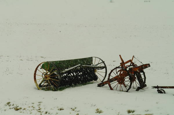 Yesterday Photograph - Rusting In The Snow by Jeff Swan