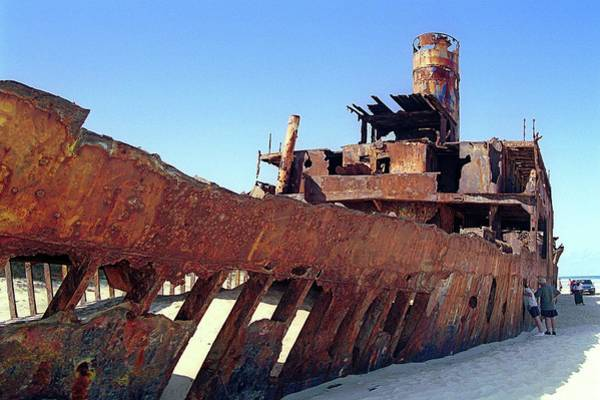 Oxidised Photograph - Rusting Ship by Sheila Terry/science Photo Library