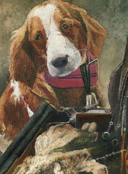 Liver Painting - Rusty - A Hunting Dog by Mary Ellen Anderson