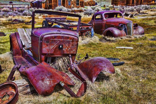 Wall Art - Photograph - Rusty Autos by Garry Gay