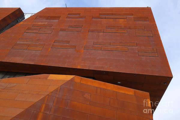 Photograph - Rusty Blocks Wu Campus Vienna by Menega Sabidussi