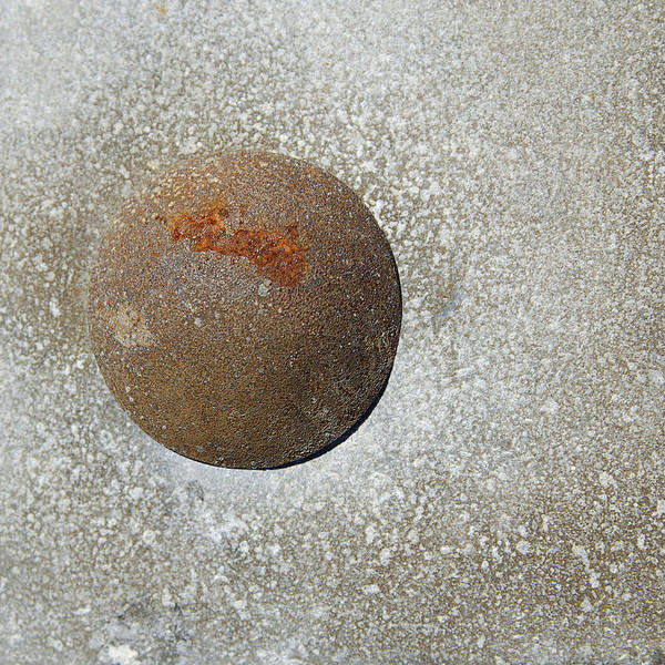 Photograph - Rusty Button by Rick Mosher