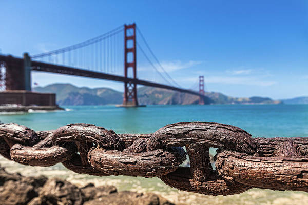 Rusty Chain Photograph - Rusty Chains At Golden Gate Bridge, San by Daniel Osterkamp