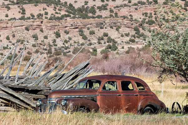 Bishop Hill Photograph - Rusty Chevrolet Special Deluxe In Manila Utah by Kathleen Bishop