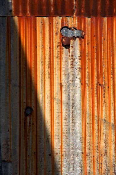 Photograph - Rusty Corrugated Sheeting by Stuart Litoff