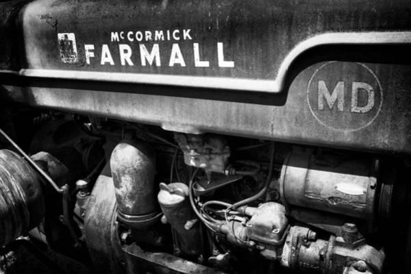 Photograph - Rusty Farmall Bw by Patrick M Lynch