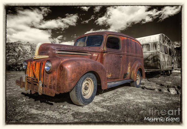 Pyrography - Rusty Ford by Mauro Celotti