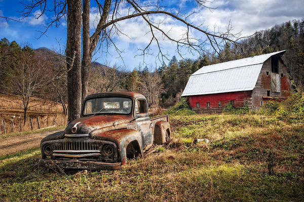 Wall Art - Photograph - Rusty International Truck by Debra and Dave Vanderlaan