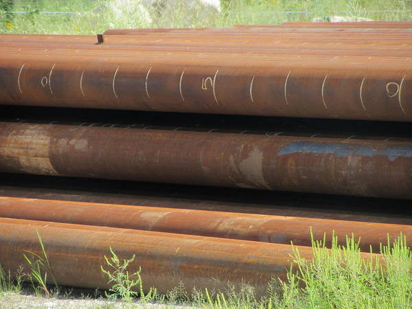 Photograph - Rusty Iron Pipes by Anita Burgermeister