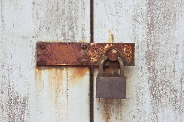 Privacy Photograph - Rusty Lock by Tom Gowanlock