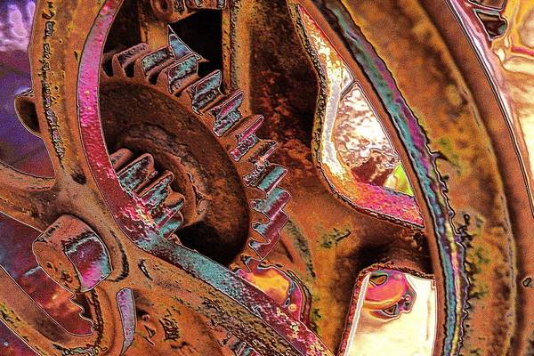Photograph - Rusty Neon Cog by David Rich