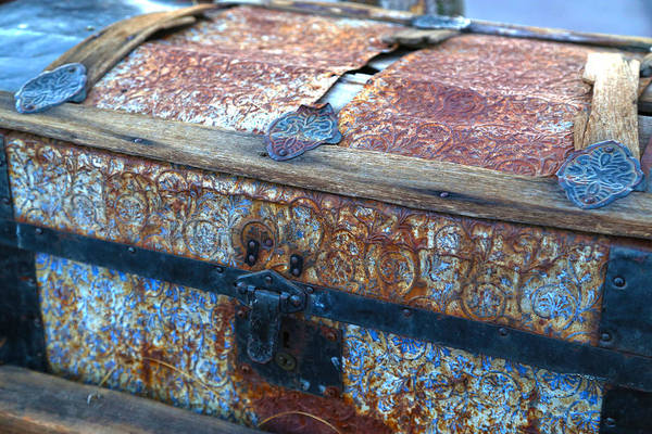 Photograph - Rusty Old Chest by Michael Hope