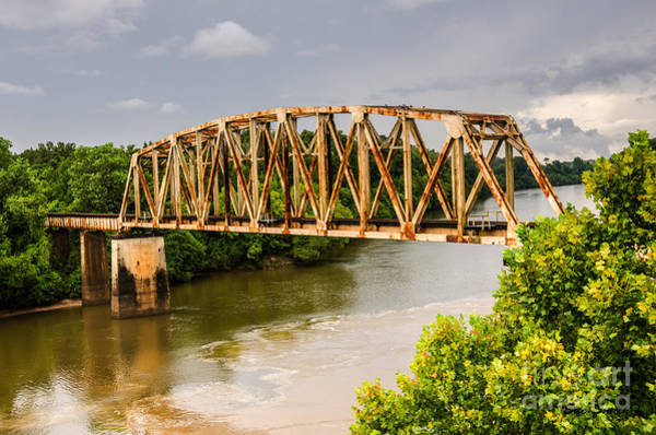 Photograph - Rusty Old Railroad Bridge by Sue Smith