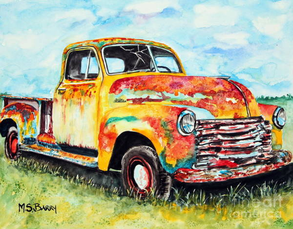 Painting - Rusty Old Truck by Maria Barry