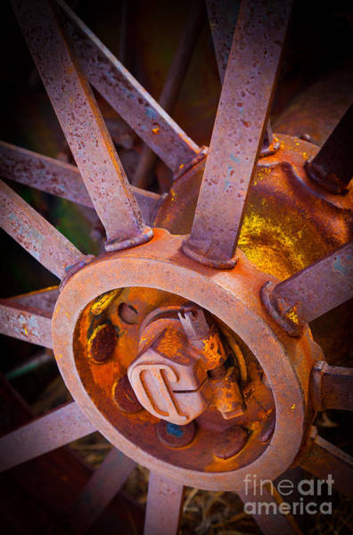 Spokes Photograph - Rusty Spokes by Inge Johnsson