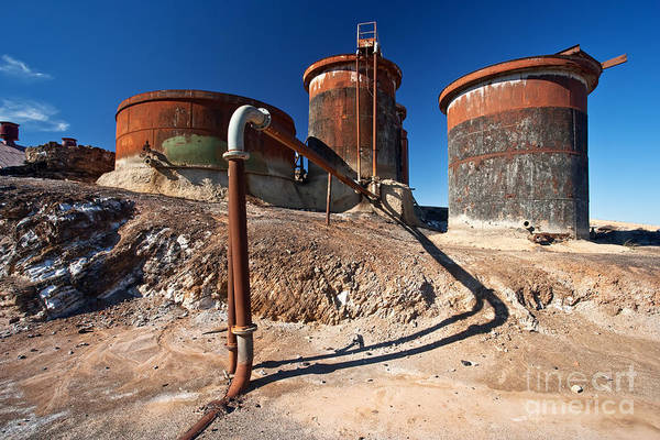 Mining Photograph - Rusty Tanks by Bill  Robinson