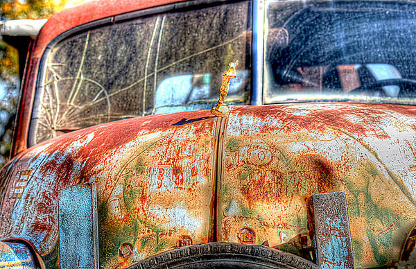 Wrecking Yard Photograph - Rusty Tow Truck by Sherry Thorup