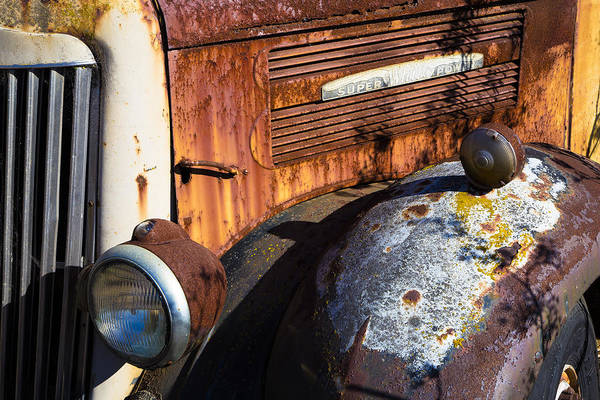 Painted Desert Photograph - Rusty Truck Detail by Garry Gay